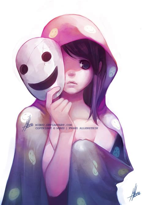 purple hair happy or crappy randomness it s best a smile as a mask by mibou on deviantart