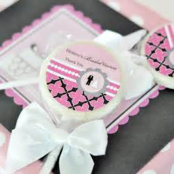 Personalized lollipop candy wedding shower favors