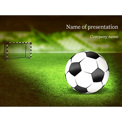 football themed powerpoint 2007 soccer powerpoint template background for presentation