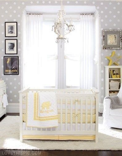 Neutral Nursery Curtains Unisex Baby Room Idea Grey And Yellow Baby Room Ideas