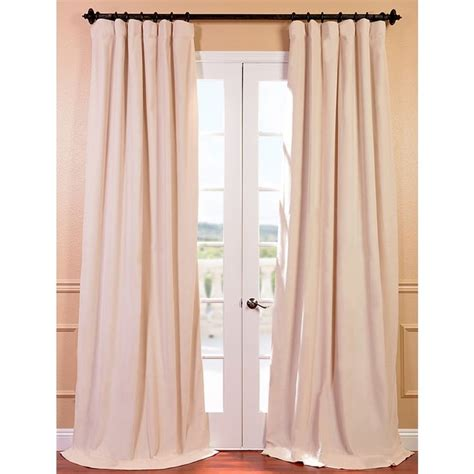 96 inch blackout curtains exclusive fabrics signature ivory velvet 96 inch blackout