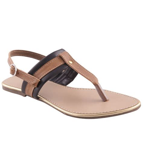 Faux Leather Flat Sandals adorn black faux leather flat sandals price in india buy