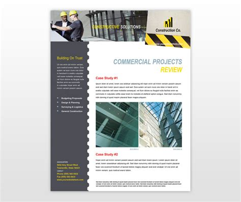 Construction Newsletter Industrial Commercial Construction Newsletter Template Invitations Ideas