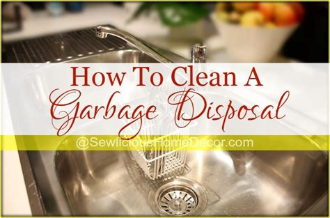 how to clean disposal how to clean a garbage disposal clean garbage disposal