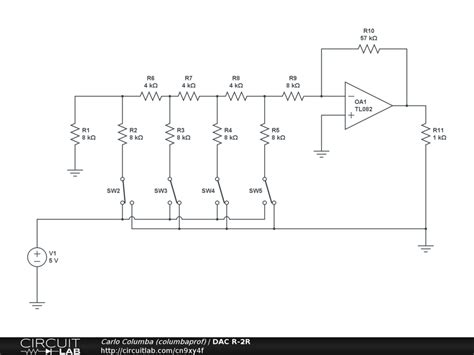 r 2r resistor ladder dac r 2r ladder dac circuit diagram wiring diagram