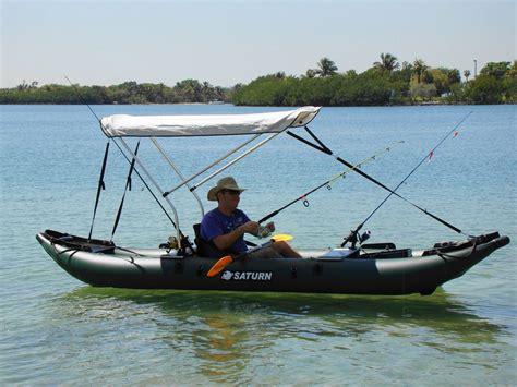 inflatable fishing boat setup sailboats to go 187 saturn pro angler kayak with sail kit