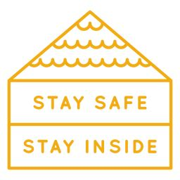 stay  home textured transparent png svg vector file