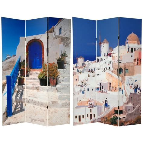 6 ft printed 3 panel room divider can greece the home depot