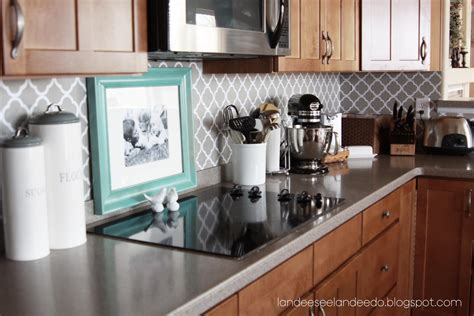 painted kitchen backsplash how to paint a stripe landeelu