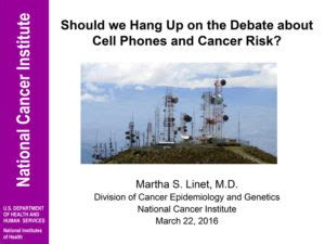 Mobile Phone Cancer Risk To Be Investigated by Environmental Health Trust 187 Archive Martha Linet Of