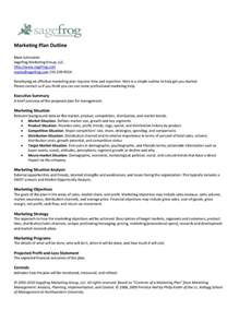 marketing outline template sagefrog marketing plan outline pdfsr
