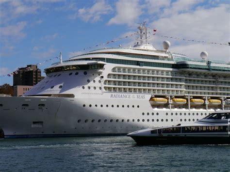 big new boat radiance seas cruise sydney port holiday ship people