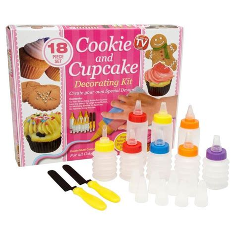 dynergy cookie and cupcake decorating kit 18 set