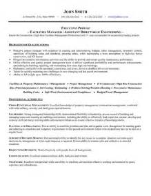 Facility Operations Manager Cover Letter by Facilities Manager Resume Template Premium Resume Sles Exle