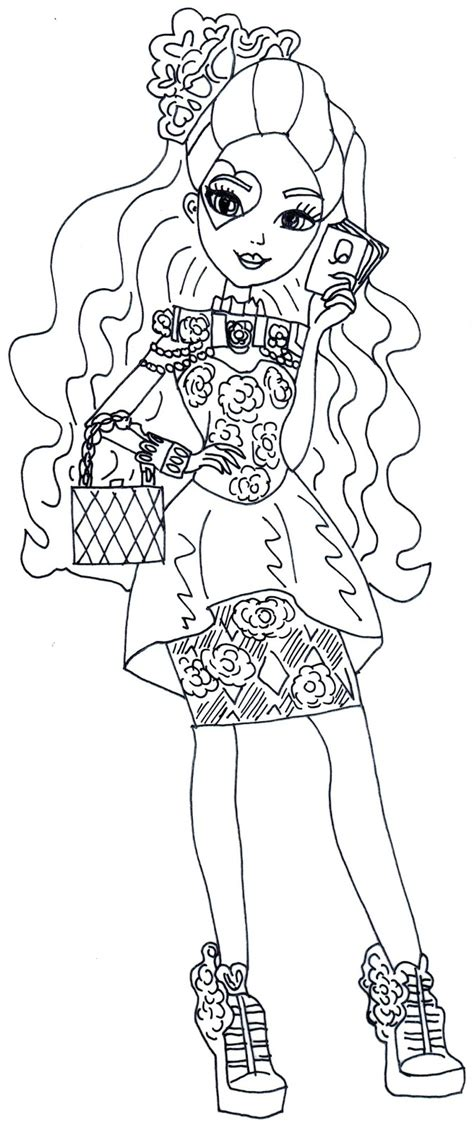 ever after high coloring pages thronecoming free printable ever after high coloring pages lizzie
