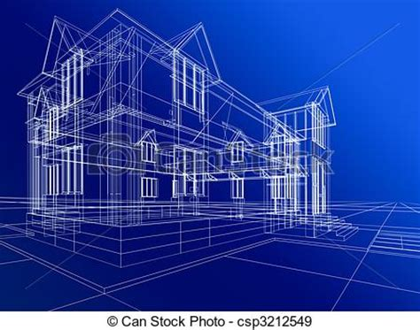 Small A Frame House Plans Free Stock Illustration Of Wire Frame Of Cottage 3d Rendering