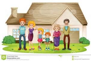 familia ycasa de verdadera una familia fuera de su casa grande ilustraci 243 n del vector