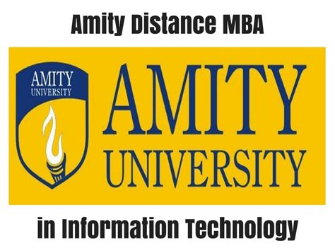 Mba In Tech by Amity Distance Mba In Information Technology Distance