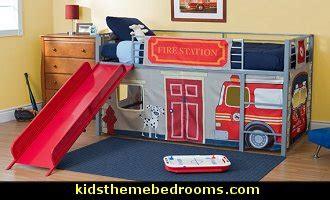 fire truck loft bed curtain boys bedroom with a firetruck bed hot girls wallpaper