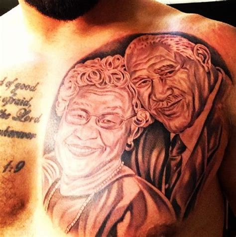 matt kemp tattoo on chest matt kemp got a massive chest tattoo of a portrait of his