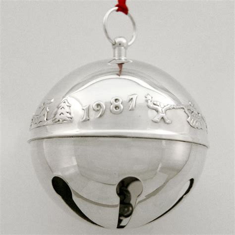 wallace silver bell 2018 1987 wallace sleigh bell silverplate ornament sterling collectables