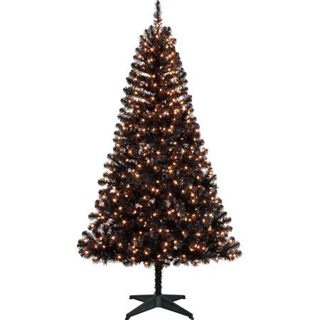 holiday time pre lit 65 madison pine white artificial christmas tree clear lights time pre lit 6 5 pine artificial tree black clear lights walmart