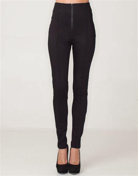 Highwaist One Black Size 27 30 buy motel donella high waist pant in black at motel rocks motel rocks