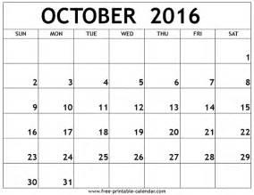 free october calendar template printable calendar 2016 free october 2016 printable