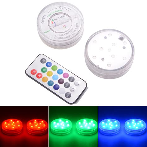 submersible led lights with remote control ir remote control smd5050 rgb submersible led lights aaa
