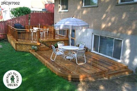 deck möbel layout large low two level deck with a curved outside