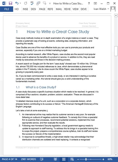 pattern of writing case study case study templates 21 x ms word sles writing tutorials