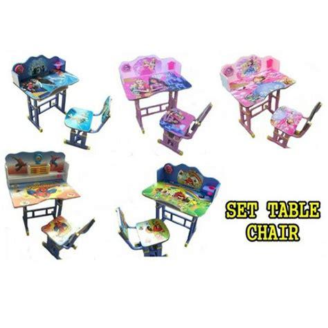 Meja Belajar Budak set meja kerusi kanak kanak rumah perabot perabot di