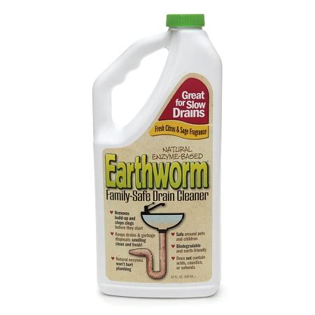 earthworm natural enzyme based family safe drain cleaner