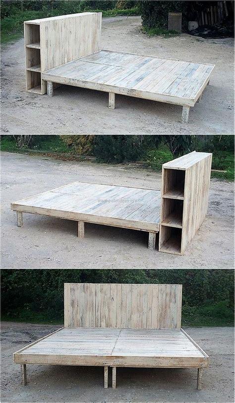 Wood Pallets For Bed Frame Best 25 Pallet Bed Frames Ideas On Pallet Beds Palette Bed Diy And Pallet Ideas