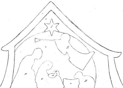 christmas patterns cut out print out nativity scene silhouette search results