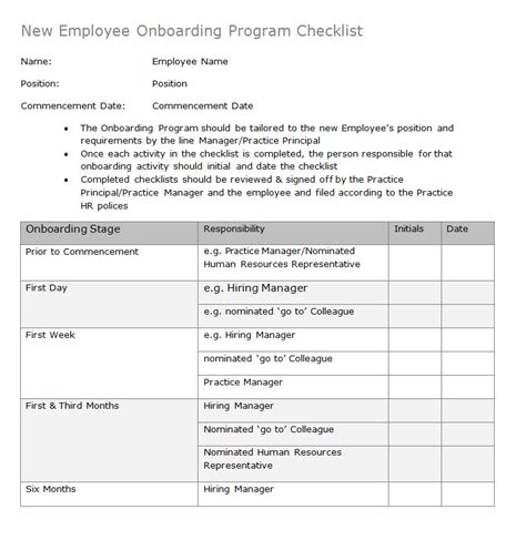 Hr Advance New Employee Onboarding Program Checklist Employee Onboarding Checklist Template