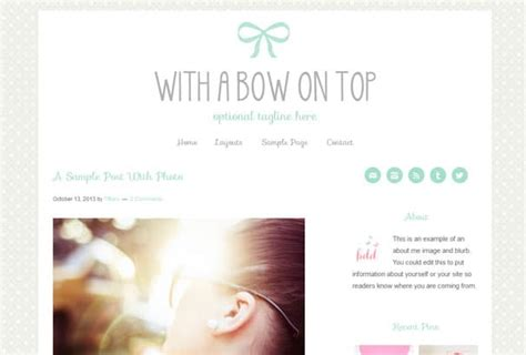 cute themes wordpress free 40 of the best feminine cute girly wordpress themes
