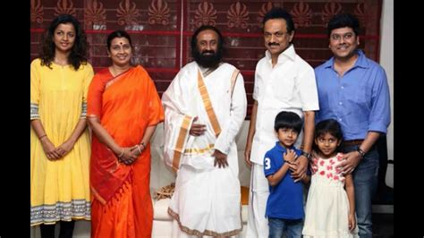 actor senthamarai m k stalin family daughter and son and grand children