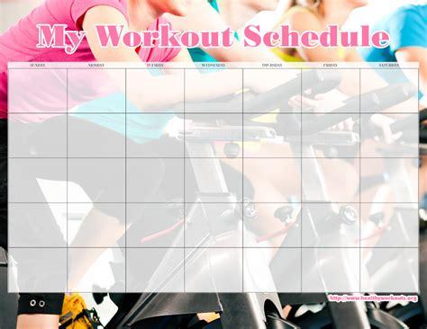 exercise calendar template free exercise calendars calendar template 2016