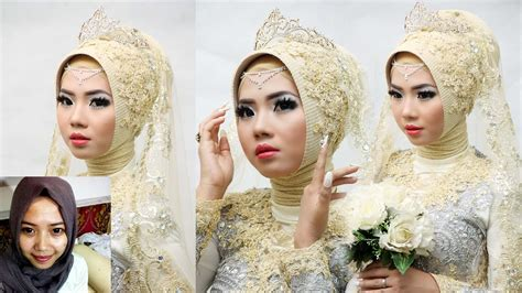 tutorial make up pengantin muslimah cara make up pengantin modern saubhaya makeup