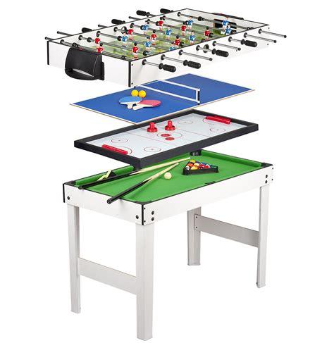 tavolo multigioco tavolo multigioco 4 in 1 con biliardo pool calcetto