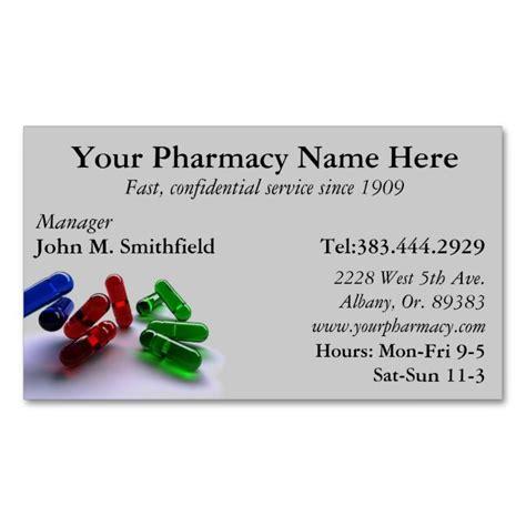 Pharmacy List by Pharmacy Pharmacist Medication List Business Card