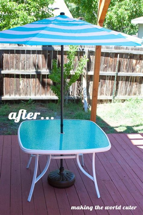 perfect glass patio table makeover painted