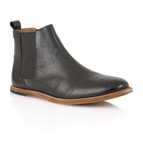 buy s frank wright burns black leather chelsea boot