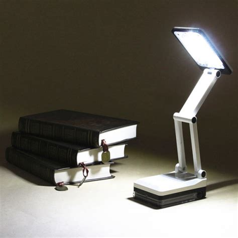 movable study table portable folding led reading light rechargeable table