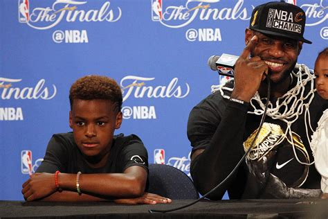 lebron james biography article lebron james jr reportedly has scholarship offers from
