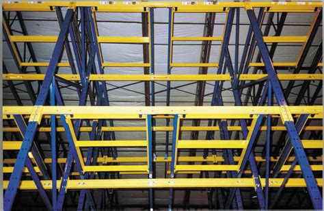 unarcopush back rack photos from distribution center and