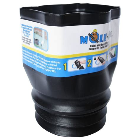 mole pipe twist  seal  downspout adapter  home
