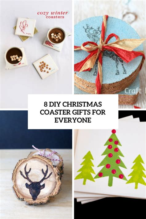 8 diy christmas coaster gifts for everyone shelterness