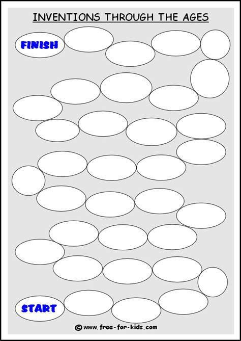 7 best images of path game board templates printable